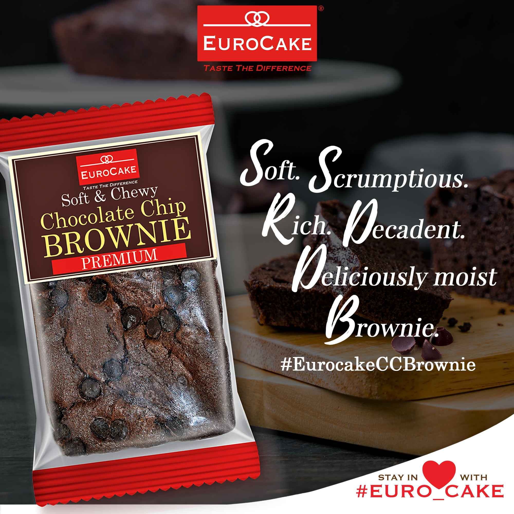 Eurocake Chocolate Chip Brownie No Preservatives