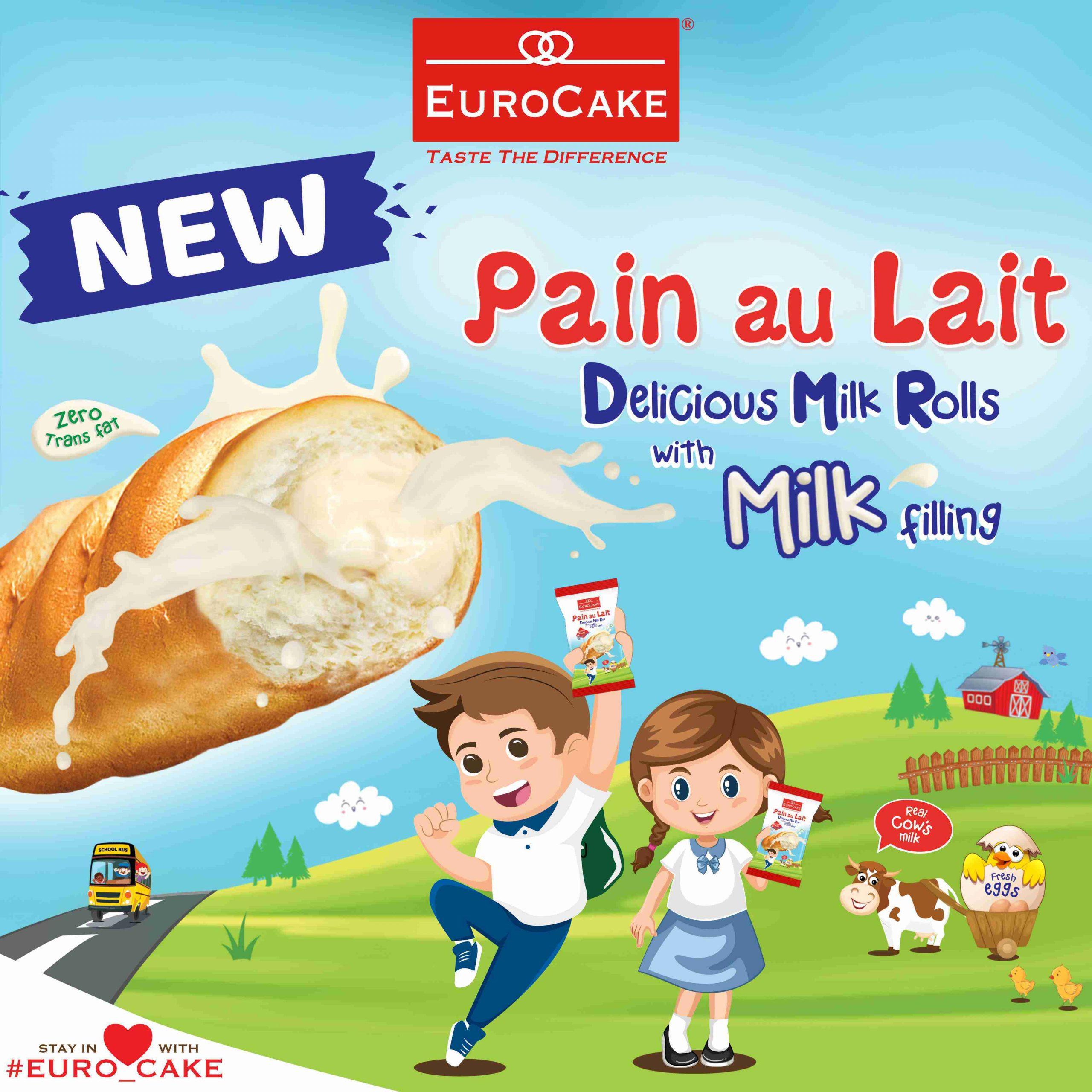 EUROCAKE - PAIN AU LAIT with Milk Filling