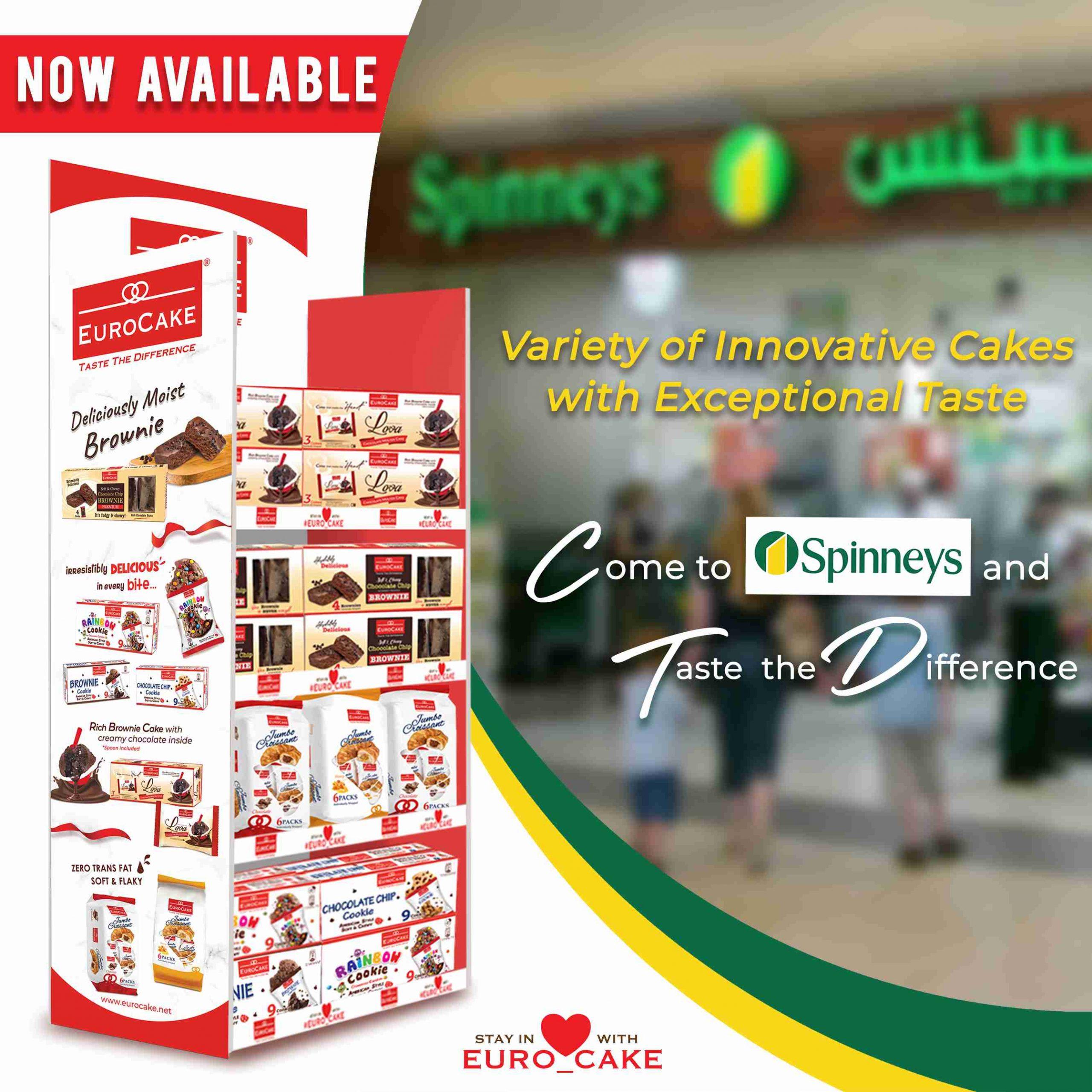 Eurocake Product Range at Spinneys Supermarket Chain Throughout the UAE