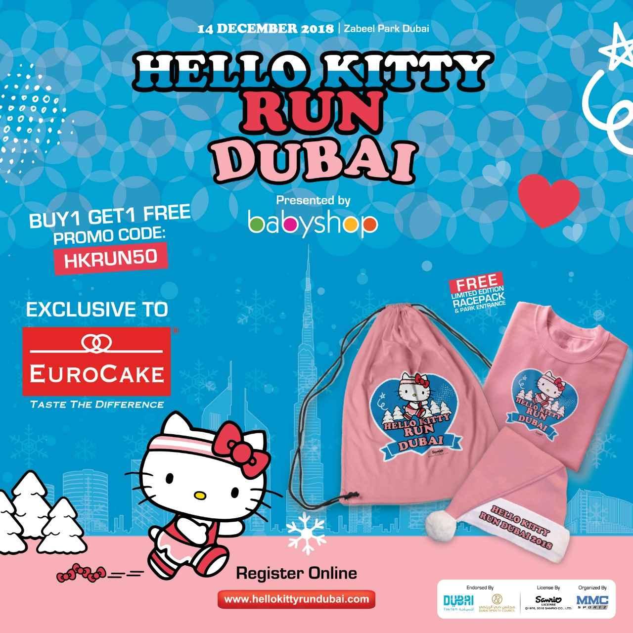 Hello Kitty Run Dubai and Eurocake Fresh