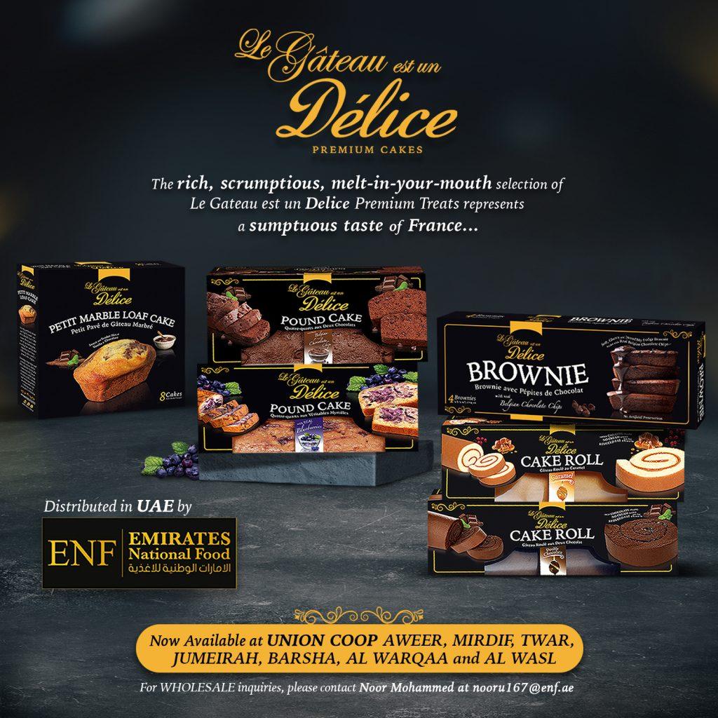 Le Gateau est un Delice Brand Distributed in UAE by ENF